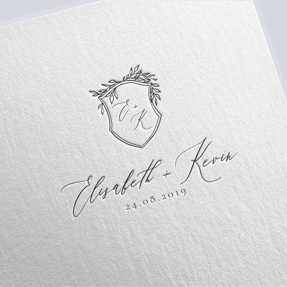 Wedding logo design custom wedding monogram crest wedding   Etsy